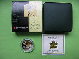 Канада 50 центів 2004 р. Флора - лілія