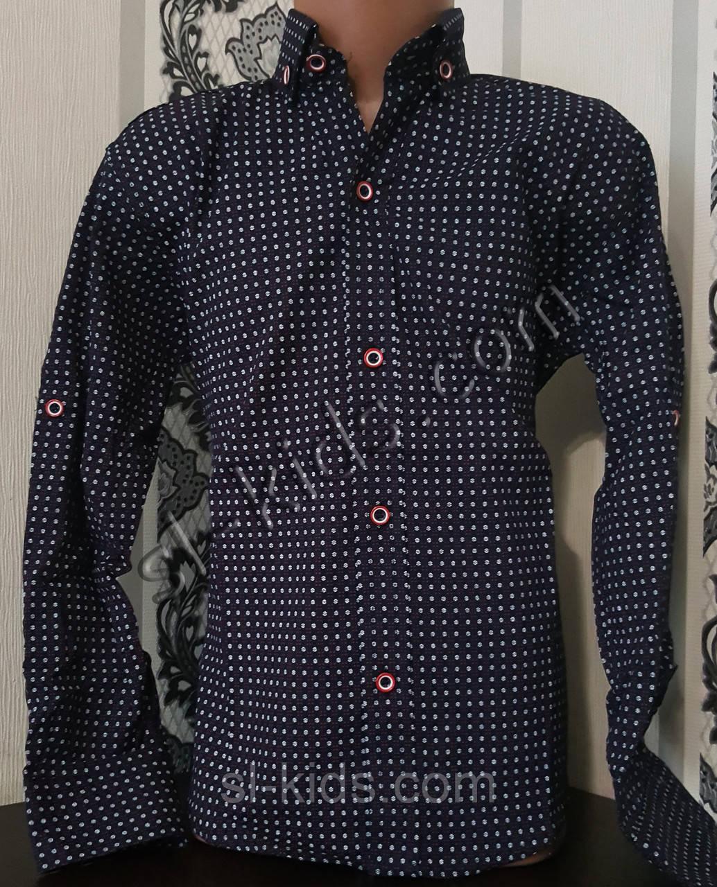 Стильна стрейчева сорочка для хлопчика 116-152 см (роздр) (ТС03) (пр. Туреччина)