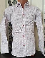 Стильная стрейчевая рубашка для мальчика 116-152 см (розн) (БК03) (пр. Турция)