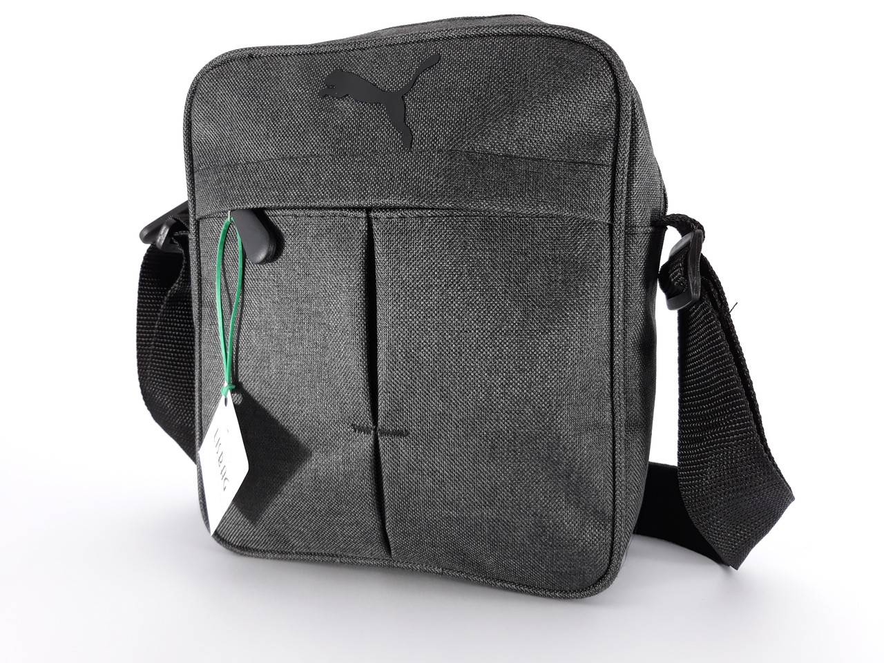 dbe91ae35feb Мужская сумка через плече спортивного типа Puma реплика люкс качества  Темно-серая