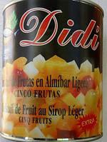 Фрукты консервированные Didi Cinco Frutas Extra, 840 г (Испания)
