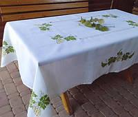 Вышитая скатерть с салфетками Виноградная лоза