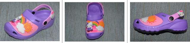 Кроксы шалунишка hello kitty фиолетовые фото