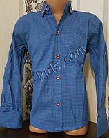 Стильная стрейчевая рубашка для мальчика 116-152 см (розн) (П04) (пр. Турция)