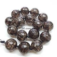 Горный хрусталь прессованный бусины 10 мм, натуральные камни, поштучно, коричневый, заказ делайте через сайт в описание товара