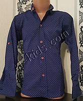 Стильная стрейчевая рубашка для мальчика 116-152 см (розн) (С04) (пр. Турция)