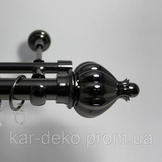 фото Карниз металлический черный 1 kar-deko.com