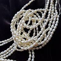 Жемчуг речной класс С бусины 2-4*2 мм, натуральные камни, поштучно, белый, заказ делайте через сайт в описание товара
