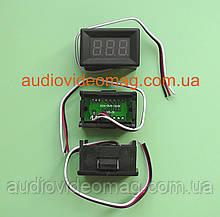 Вольтметр DC DVM-368 0-30V (малый) в корпусе, для постоянного тока, цвет цифр - красный