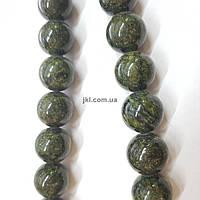 Змеевик бусины 4 мм, ~104 шт / нить, натуральные камни, на нитке, темно-зеленые, заказ делайте через сайт в описание товара