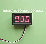 Вольтметр DC 0-30V DVM-568 (большой), в корпусе, для постоянного тока, цвет цифр - красный, фото 2
