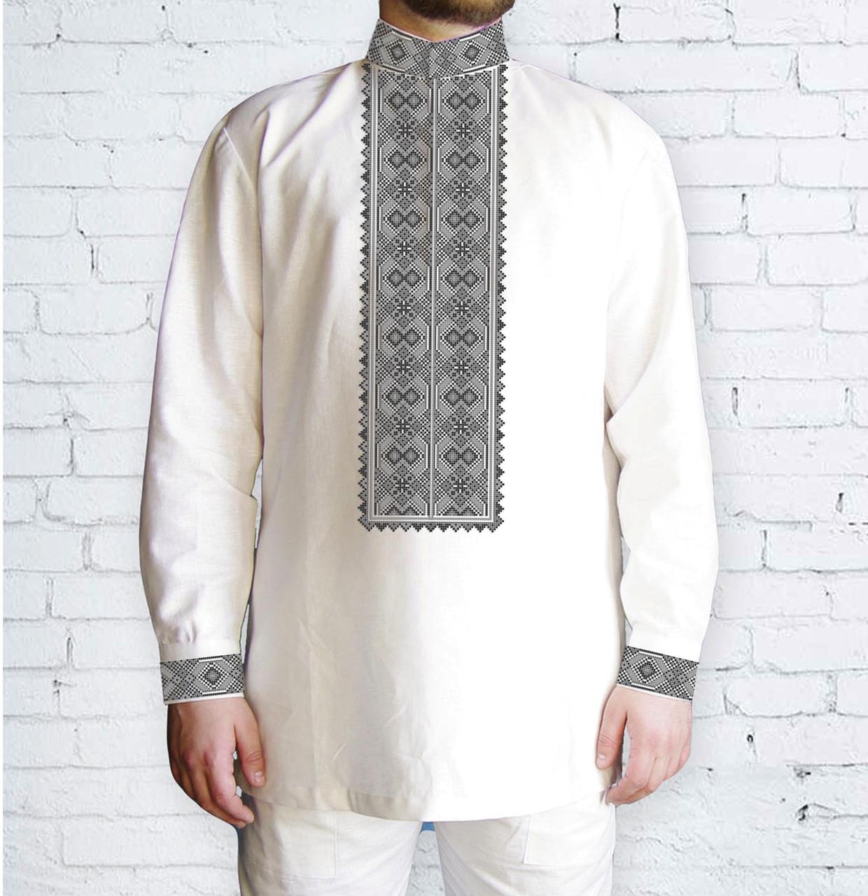 Заготовка чоловічої сорочки та вишиванки для вишивки чи вишивання бісером Бисерок «Орнамент 537 С» (Ч-537с )