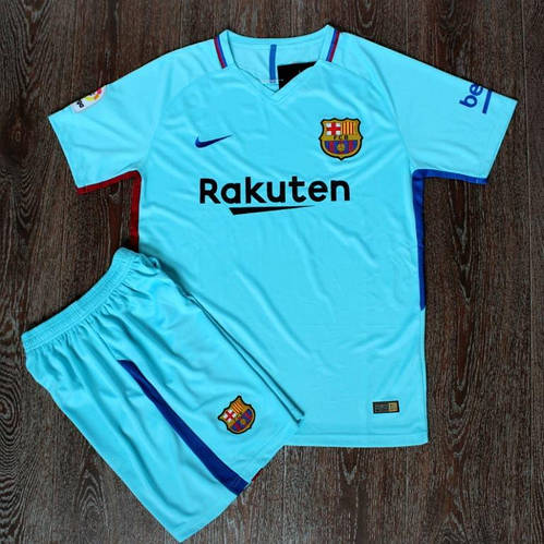 Футбольная форма Барселона голубая сезон 2017-18