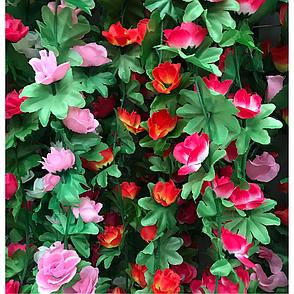 Искусственная лиана с розами.Цветочная лиана., фото 2