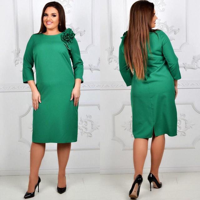 Платье цветок, модель 797, цвет - зеленый