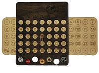 Вечный календарь органайзер CAPS DAY с отверстиями для пивных крышек 7 отверстий