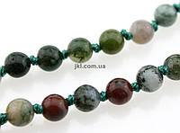 Яшма зелёная бусины 6 мм, ~62 шт / нить,  натуральные камни, на нитке, заказ делайте через сайт в описание товара