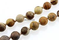 Яшма древесная бусины 10 мм, ~37 шт / нить, натуральные камни, на нитке, заказ делайте через сайт в описание товара