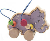 Развивающая и обучающая игрушка - Лабиринт-каталка Слон