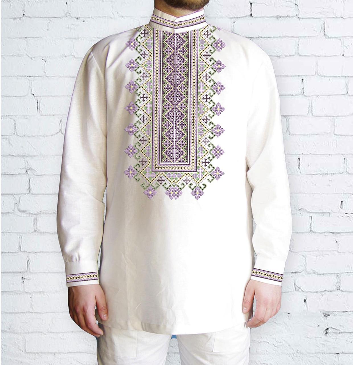Заготовка чоловічої сорочки та вишиванки для вишивки чи вишивання бісером Бисерок «Світанкова» (Ч-555 )