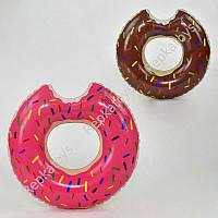 """Круг надувной """"Пончик"""" 2 цвета, диаметр 60 см, в пакете (ОПТОМ) 21550"""