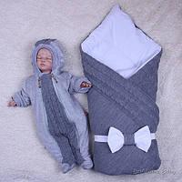 Зимний набор Глория+комбинезон Weave (серый)