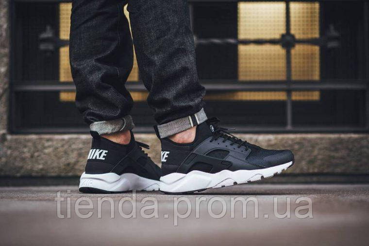 913484e8 Мужские Кроссовки Nike Air Huarache Run Ultra Black/White -
