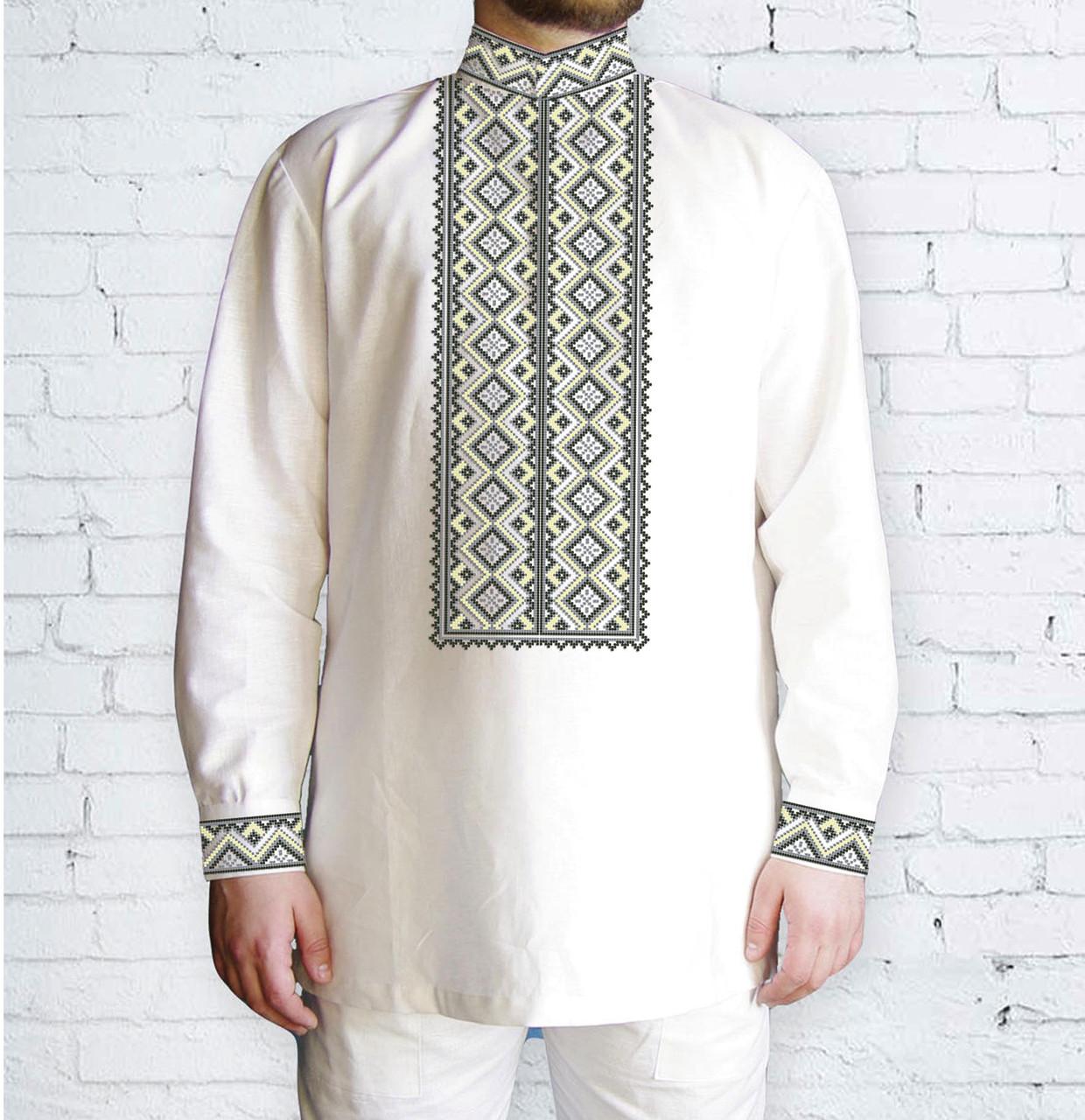 Заготовка чоловічої сорочки та вишиванки для вишивки чи вишивання бісером Бисерок «Орнамент 517» (Ч-517 С)