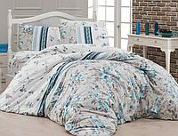 Комплект постельного белья First Choice Ranforce семейный Peggy turkuaz