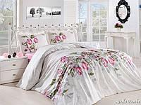 Комплект постельного белья First Choice Ranforce семейный Riella pembe