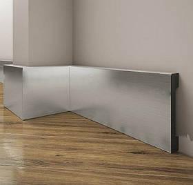 Срібний прямий плінтус для підлоги фарбований Cezar Elegance 15.8*69.7*2000мм