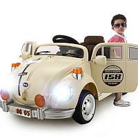 Детский электромобиль WV «ЖУК» 158: 7 км/ч, 12V, 2 мотора, пульт, MP3, БЕЖ - купить оптом, фото 1