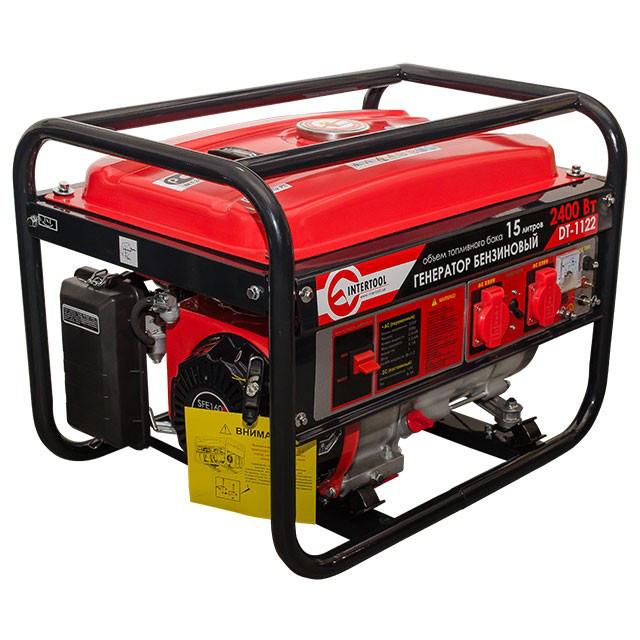 Генератор бензиновый макс мощн. 2,4 кВт. INTERTOOL DT-1122