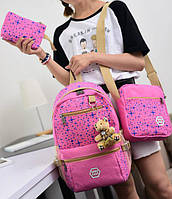 Школьный рюкзак для девочки с сумочкой и пеналом