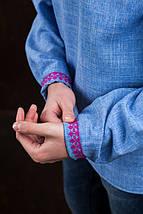 Джинсовая рубашка для мужчины с вышивкой Орнамент Звезда, фото 2