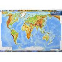 Физическая карта мира м-б 1:35 000 000 УКР