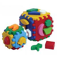 """Куб """"Розумний малюк 1+1"""" 1899, детская развивающая игрушка, игра, кубик, сортер"""