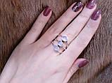 Красивое кольцо  - натуральный лунный камень в серебре. Кольцо с тремя лунными камням 17,5 размера., фото 3