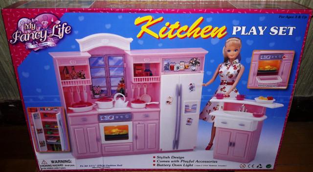 Кукольная мебель Глория Gloria 24016 Большая Кухня Барби