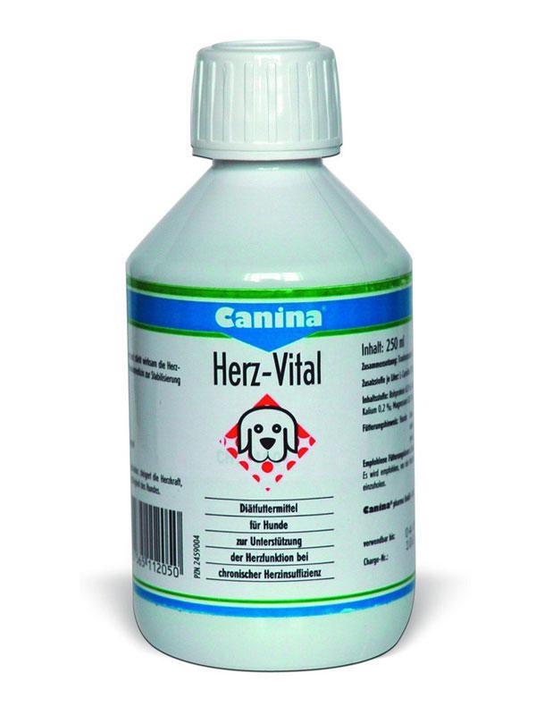 """HERZ-VITAL """"CANINA"""" ХЕРЦ-ВИТАЛ для поддержания сердца стареющих собак и кошек 250 мл"""