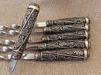 """Подарочный набор шампуров с бронзовыми ручками """"Лукоморье"""""""