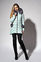Зимняя женская молодежная куртка. Цвет мятный. размер 48