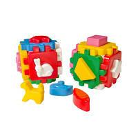 """Куб """"Розумний малюк Весела компанія"""" 1950, детская развивающая игрушка, кубик, сортер"""