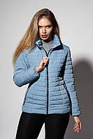 Женская демисезонная куртка. Код модели К-66-37-18. Цвет серо-голубой.