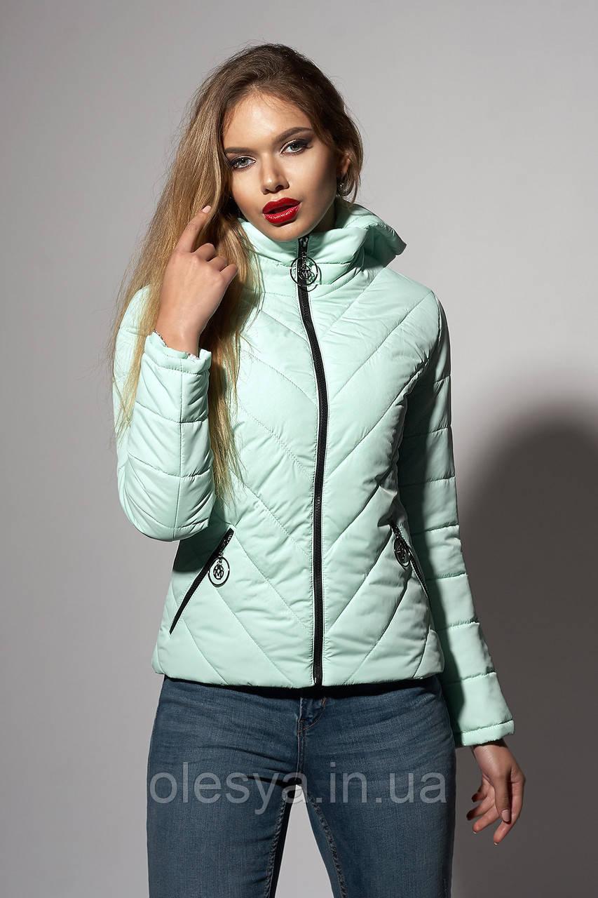 Женская молодежная демисезонная куртка. Код модели К-92-37-18. Цвет мята.