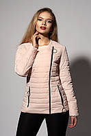 Женская молодежная демисезонная куртка. Код модели К-114-37-18. Цвет пудра.