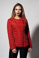 Женская молодежная демисезонная куртка. Код модели К-114-37-18. Цвет красный.