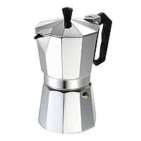Гейзерная кофеварка из алюминия 150 мл, 3 порции