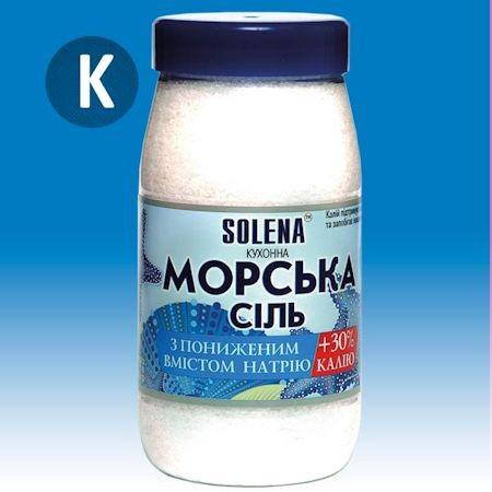 Морская соль с пониженным содержанием натрия + калий 700 г.