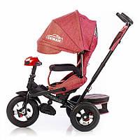 Велосипед трехколесный TILLY CAYMAN T-381/2 Красный лен